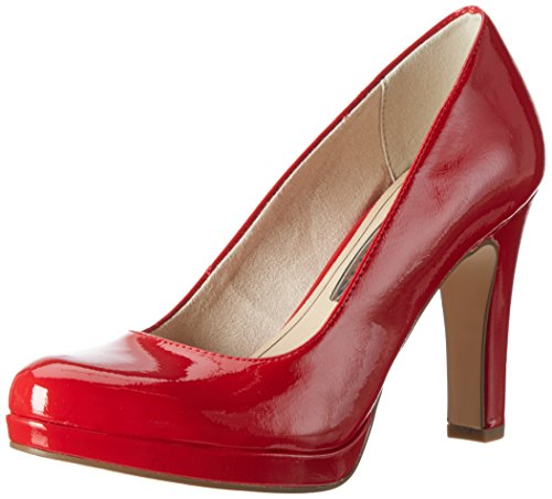 Tamaris Damen 22426 Pumps, Rot (Chili Patent 520), 36 EU