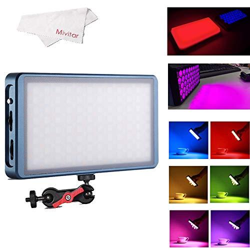 FalconEyes F7 12W RGB LED Mini-Tasche auf Video Kameralicht 2500K-9000K Bicolor mit Magnetadsorptionsfunktion für Video/Foto/Produktfotografie (RGB Light with Softbox)