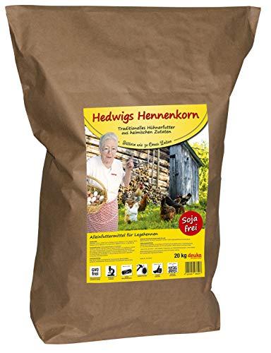 deuka Hedwigs Hennenkorn 20Kg sojafrei heimische Zutaten Traditionelles Hühnerfutter