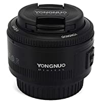YONGNUO 50mm Lens fixed focus lens EF 50mm F/1.8 AF/MF lense Large Aperture Auto Focus Lens For Canon DSLR Camera