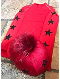 161969c9f27 SXC Eco Cross Country Colour XC Stars Red Eventing Equestrian Hat Silk Cover  Custom
