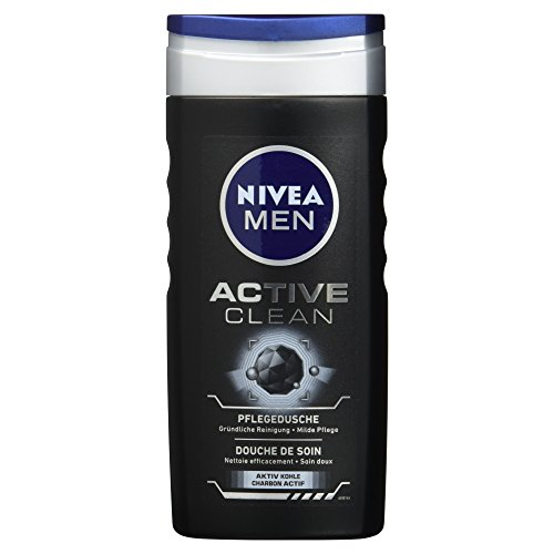 NIVEA Men Duschgel für Körper, Gesicht & Haar, 250 ml, Active Clean