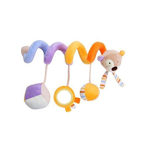 Luxury-uk Soft Book für Kleinkinder Kinderbett Krippe Anhänge, Cartoon Tier Hänge Rassel Kleinkind Spielzeug Kinderwagen Kinderwagen (Bär)