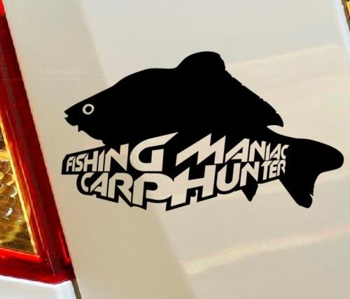 pesca Maniac pesca alla carpa Hunter Hunting Fish Truck hobby auto Drift bumper finestra Funny vinyl Van di amore cuore Decor Home Live Kids Funny decalcomania da parete moto