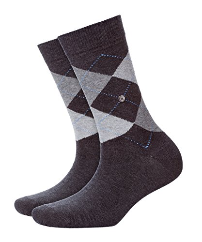 Burlington Damen Strick Socken Queen, Grau (anthrazit meliert 3081), 36/41