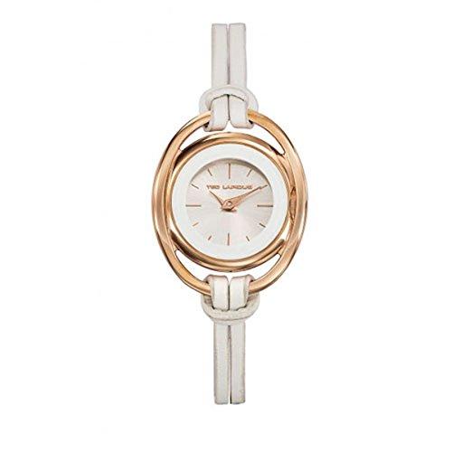 Ted Lapidus A0638UBIF - Reloj de pulsera mujer, piel, color blanco