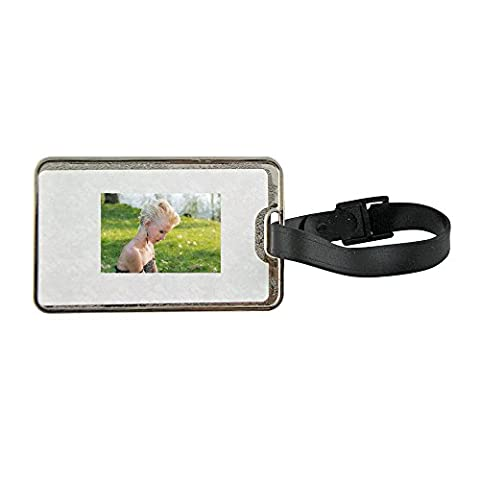 Metal luggage tag with Profile, Blonde, Girl, Young, Young Girl
