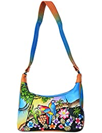 LEATHER MADE Women's Sling Bag (Multi-Coloured, MM0196.01)