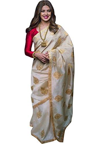 Chanderi Silk [Assam silk] bollywood saree By Yana Fab