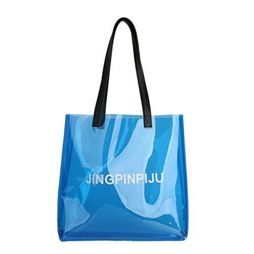 Fashion Women Handtasche Schultertasche Shopper Taschen Umhängetasche,Mode Vielseitig Transparent Jelly Large Capacity Shoulder Bag Beach Bag Handbag -