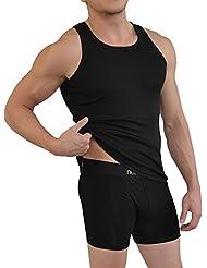 4 x normani® Herren Unterhemd aus 100% gekämmter Baumwolle Feinripp