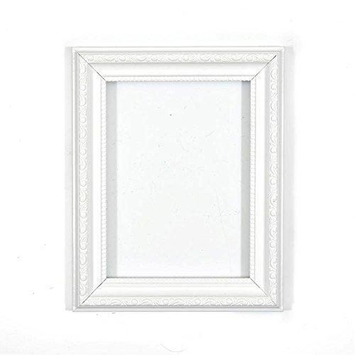 """Bilderrahmen in Weiss 36"""" x 24"""" - Bereit zum Aufhängen oder Stellen mit Verzierungen im Shabby Chic Bilder-/Foto-/Posterrahmen mit Rückwand aus MDF und bruchsicherem Plexiglas aus Styrol für hohe Klarheit"""