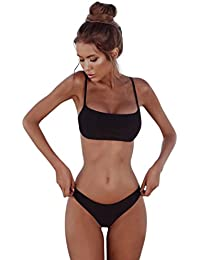 d58efbd7f51d1 Xinan Damen Bikini Set Bademoden Frauen Push-up Gepolsterten BH Beach Women  Badeanzug