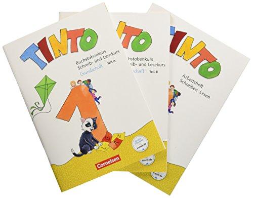 Tinto 1 - Neubearbeitung 2018: 1. Schuljahr - Buchstabenkurs mit Schreib- und Lesekurs Grundschrift: Teil 1+2 im Paket, mit Buchstabenhaus