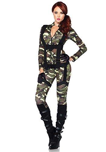 Damen-Kostüm Leg Avenue - Fallschirmjägerin lang, - Glück Sexy Kostüm