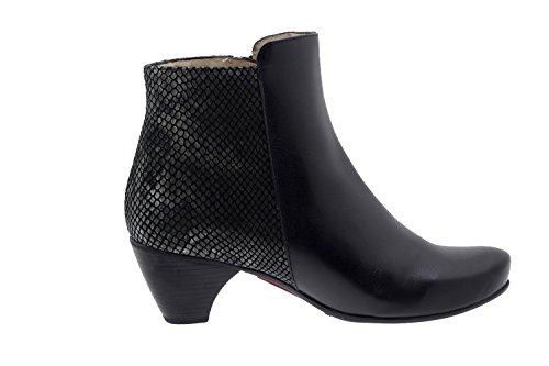 Chaussure femme confort en cuir semelle Piesanto 5880 bottine casual comfortables amples Noir