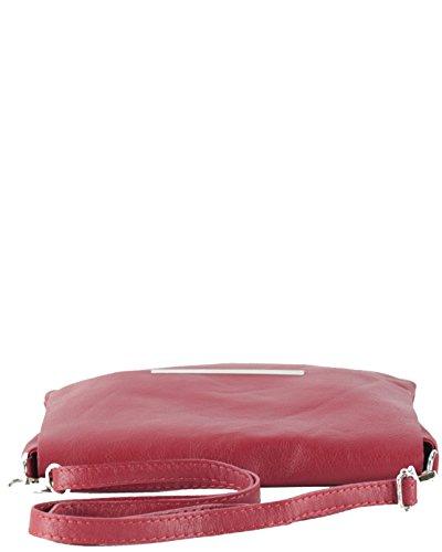 histoireDaccessoires - Pochette Pelle Donna - PO126923GI-Orlando Rosso rubino