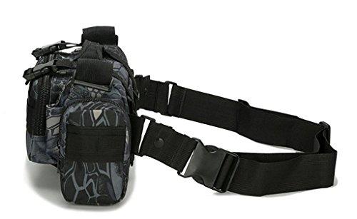 Fortuning's JDS 6L taktische Militärgürteltasche Radfahren Laufen Tasche schwarz python