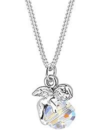Elli Damen-Halskette Engel 925 Sterling Silber Swarovski Kristall im Brillantschliff