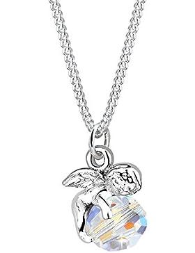 Elli Halskette Engel Kugel Flügel Swarovski Kristall 925 Silber