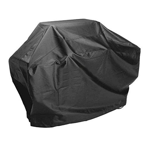 BBQ de protection capot, barbecue au gaz barbecue étanche Couvercle avec couverture anti-poussière, résistant aux UV, Anti Wing ELR Grande, noir 145cm x 61cm x 117cm