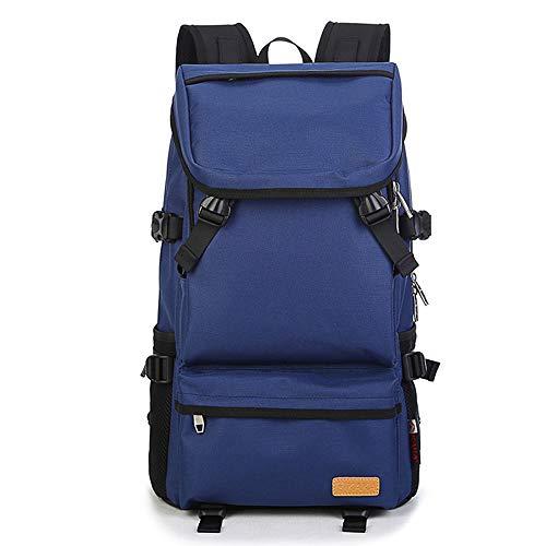 Rookly zaino da viaggio zaino antiurto business casual daypack water resistant college school bag per donna uomo adatto a laptop da 15,6 pollici,blue