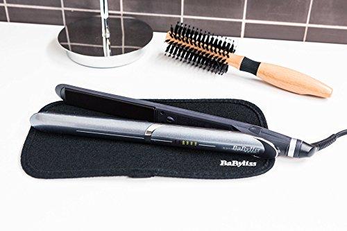BaByliss IPro Slim – Plancha de pelo iónica, placas profesionales de cerámica para cabello húmedo y seco, calentamiento instantáneo, 6 temperaturas 140º-235º