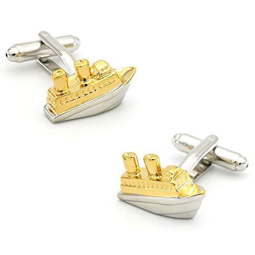 HUGUYHU Life Tool Gold Yacht Schiff Segeln Ärmel Saphins Herren Französisch Shirt Manschette Qualität -