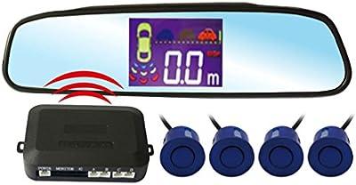 KIPTOP-Radar de Aparcamiento LED Pantalla Cuatro Sensores Zumbador Único Negro