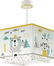 Dalber Barntaklampa hängande Hello Little Animal flerfärgad