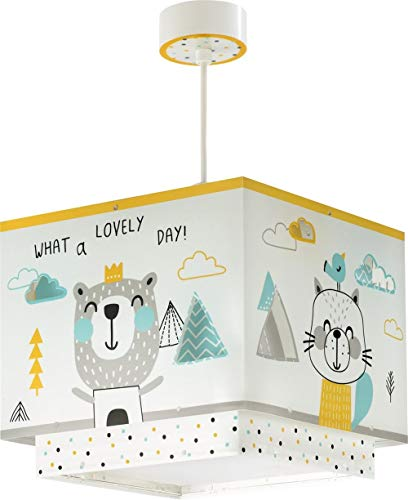 Dalber Hello Little Lampe enfant suspension, multicolore