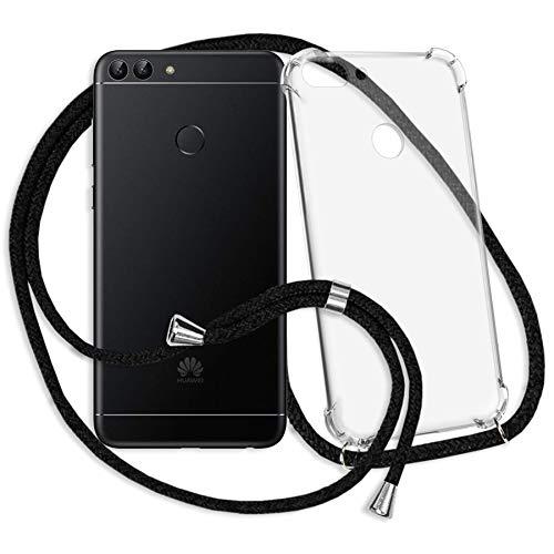 mtb more energy® Handykette für Huawei P smart (5.65'') - schwarz - Smartphone Hülle zum Umhängen - Anti Shock Strong TPU Case