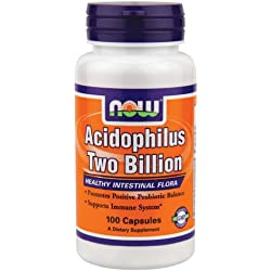 Now Foods Acidophilus Two Billion Probióticas - 100 Cápsulas