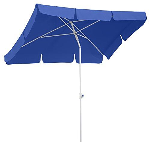 Schneider Sonnenschirm Ibiza, blau, 180x120 cm rechteckig, Gestell Stahl, Bespannung Polyester, 2.6 kg