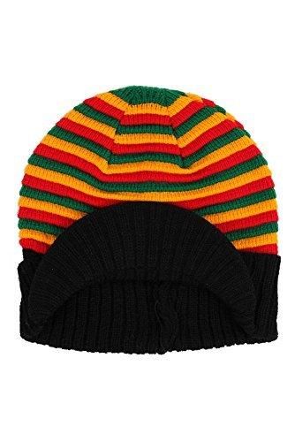 Hip Hop Caps rasta tricot rayé bonnet de ski - Rasta, rasta, Taille unique, Taille Unique
