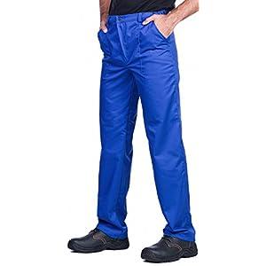 Pantalones de trabajo para hombre, S – XXXL, Pantalones de seguridad, Made in EU, Azul, Rojo, Verde, Bianco
