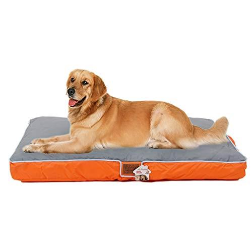 Deluxe Oxford Wasserdichtes Hundebett für große Hundewaschbare Anti-Rutsch-Kissen, Anti-Mikrobielle Abnehmbare Wasserdichte Waschbare Rutschfeste Abdeckung -