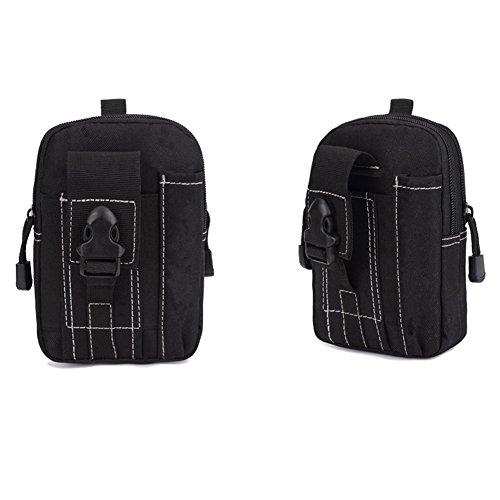 EULAGPRE 1x Männer Military Tactical Wasserdichte Taille Sporttaschen Geldbörse Mini Outdoor Taschen Black