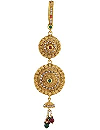 Anuradha Art Round Shape Adorable Styled With White Stones And Pearls Beads Traditonal Challa/Chabi Challa For...