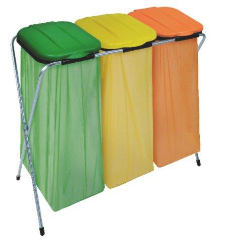 Artex 21.07.03 coperchio arancio/verde/giallo raccolta differenziata portasacchetto ecofix-3