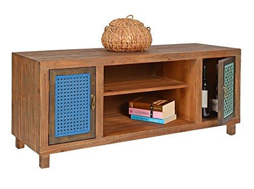 ts ideen tv bank lowboard hifi schrank vintage antik shabby design used style massivholz braun. Black Bedroom Furniture Sets. Home Design Ideas