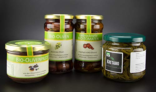 Feinkostset allesOlive Kretamo, getrocknete Tomaten, Oliven und Olivenpaste