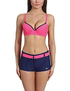 VERANO Bikini Bañadores Trajes de Baño Conjunto Tops Sujetador y Shorts Pantalones Cortos Ropa Mujer 4F2L31