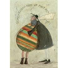 Le Groupe Art Sam Toft (Remembering When We First met) montée d'impression, Papier, Multicolore, 24x 30x 1.3cm