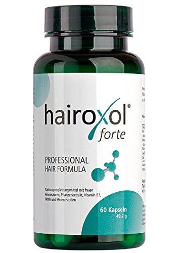HAIROXOL integratore per capelli in capsule | Contiene biotina, vitamine e aminoacidi | Contrasta la caduta e la calvizie | Stimola la crescita di capelli e unghie sani e forti nell'uomo e nella donna
