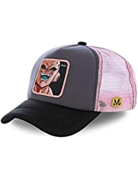 c594c5c0fb5f3 Capslab Trucker Cap Dragon Ball Z Majin Buu Grey