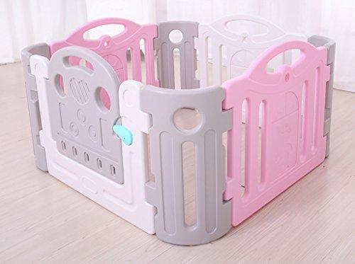 Babyzaun Spielfläche Groß, Indoor Playard, Baby Laufgitter Activity Center, Baby Zaun Tor, 120 * 120cm (4 + 4), Sicher, Stark Und...