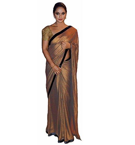 Regent-e Fashion Silk Saree With Blouse Piece (Tanushri.Gold_Gold_Free Size)