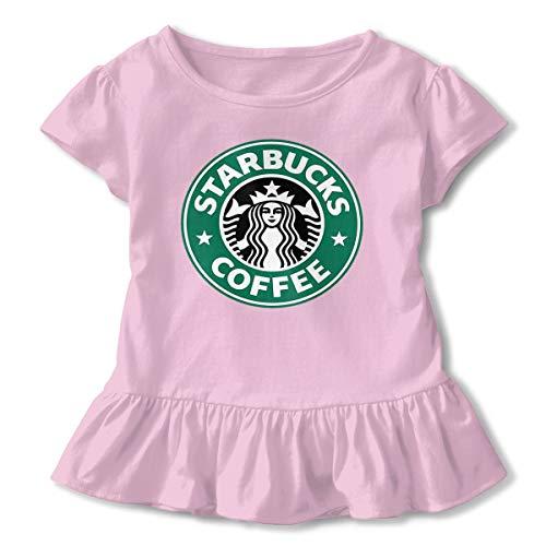 Sommer T-Shirt Starbucks Logo T Shirt Casual Tee Shirts Für Kleinkind Mädchen Kurzhülse Kleidung Rosa 3 T ()