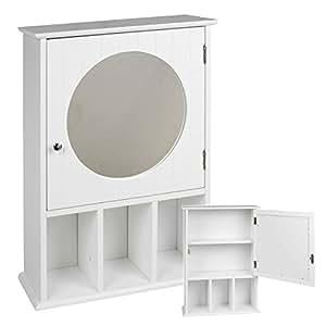Generic bianco mdf armadietto a specchio a parete armadio - Cassettiera a specchio mercatone uno ...